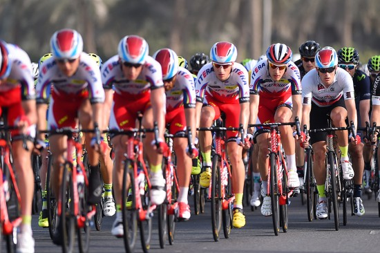 1-Team-Katusha-controlled-the-pace-for-much-of-the-day-hoping-to-grab-time-bonuses-at-intermediate-sprints.