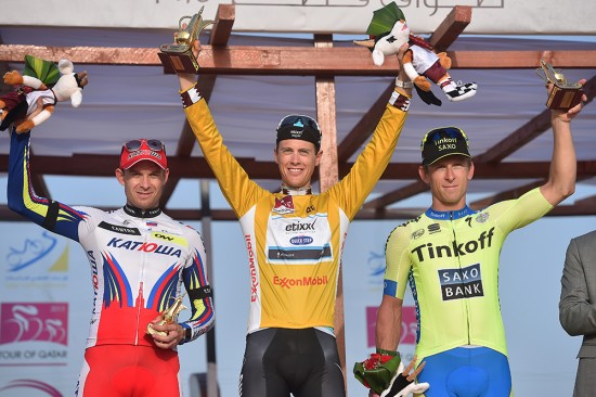 11-The-final-podium-at-the-2015-Tour-of-Qatar-Terpstra-Maciej-Bodnar-Tinkoff-Saxo-in-second-and-Kristoff-third.