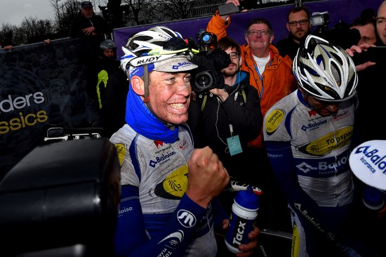 12-Jelle-Wallays-celebrated-with-his-teammates-after-they-took-the-top-two-spots-at-Dwars-door-Vlaanderen.