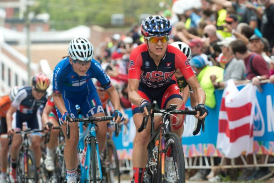 Guarnier suffered on the 23rd Street climb to stay close to Armistead. Photo: Casey B. Gibson | www.cbgphoto.com