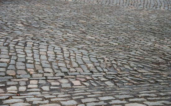 The rolling and rough surface of cobbles on the Libby Hill climb. Photo: Casey B. Gibson   www.cbgphoto.com
