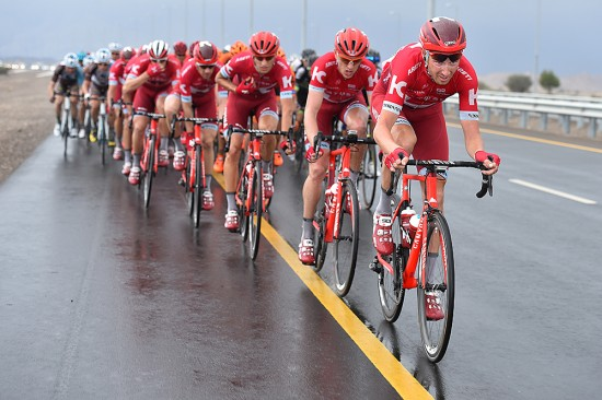 As the peloton neared the finish Team Katusha moved to the front in hopes of delivering Alexander Kristoff to a sprint victory. Photo: Tim De Waele | TDWsport.com