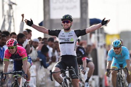 Mark Cavendish took the sprint win ahead of Sacha Modolo and Andrea Guardini. Photo: Tim De Waele | TDWsport.com