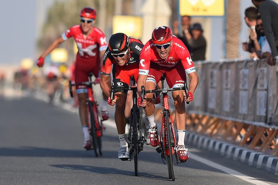 Team BMC and Team Katush drilled the pace late in the stage putting Greg Van Avermaet and Alexander Kristoff in good position for the sprint.