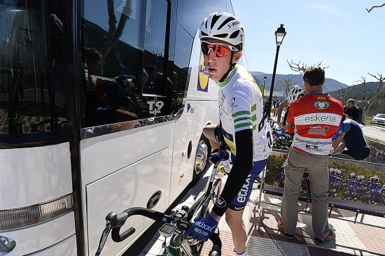 Dan Martin came out ready to defend the lead on a long day through the high mountains. Photo: Tim De Waele   TDWsport.com