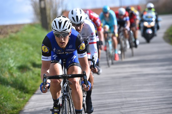 Matteo Trentin was Etixx's protected rider in the chase, but Kwiatkowski and Sagan held them off for 25 kilometers. Photo: Tim De Waele | TDWsport.com
