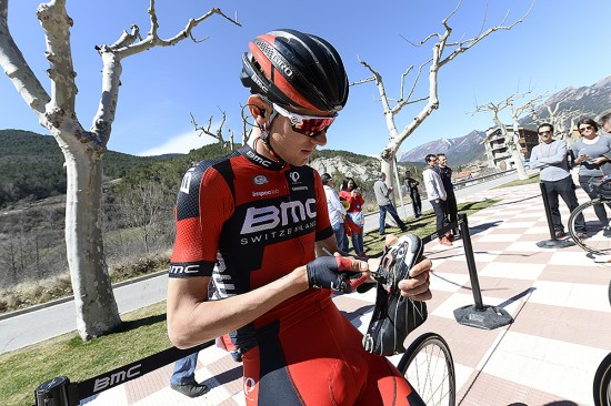 Tejay van Garderen made some last minute adjustments before the start. Photo: Tim De Waele | TDWsport.com