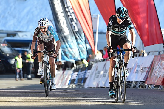 Chris Froome finished outside the top ten on the stage and sits in eighth place in the overall. Photo: Tim De Waele   TDWsport.com